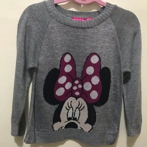 Other - NWOT Girls Mini Mouse Grey Sweater 5/6